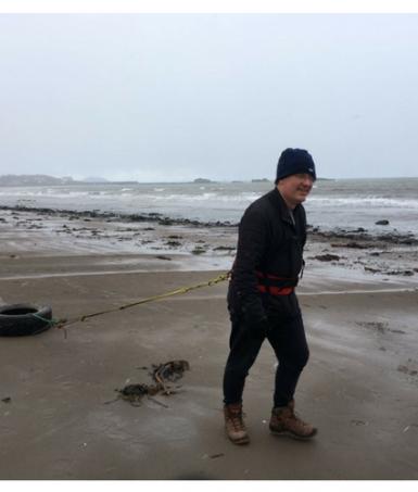 Julian on beach