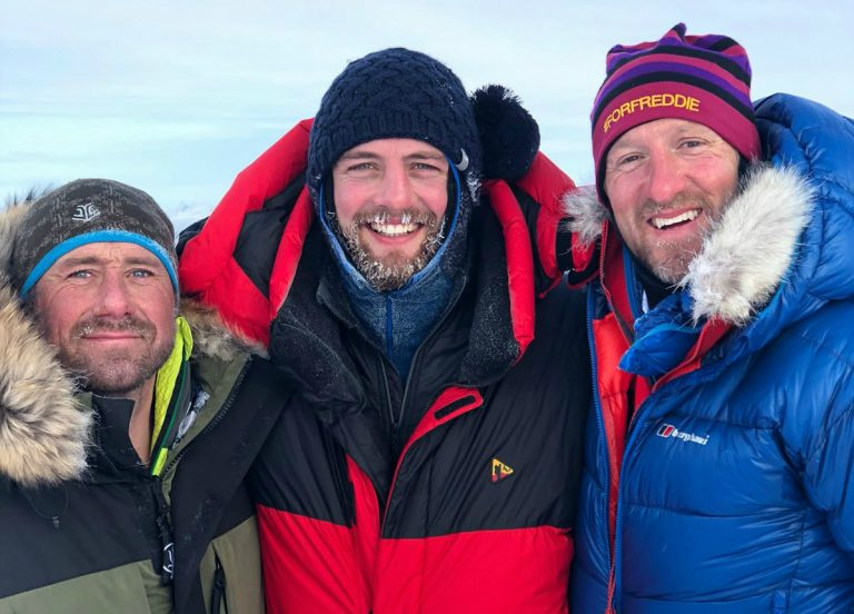 Jason Fox, Dean Mumm and Will Greenwood took on the challenge of walking to the North Pole
