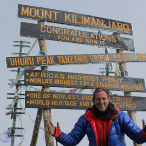 Will Greenwood at Kilimanjaro