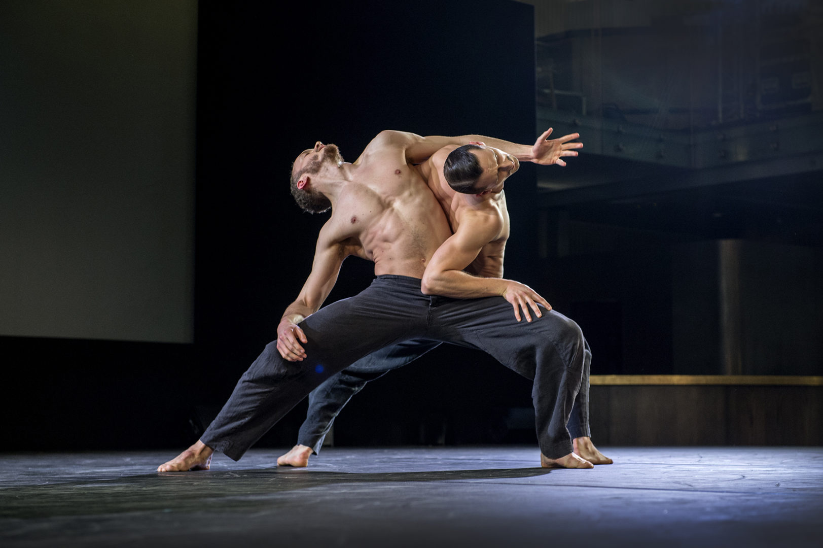 Harry Price and Bradley Cooper of BalletBoyz perform a moving and powerful piece from their show Us/Them.