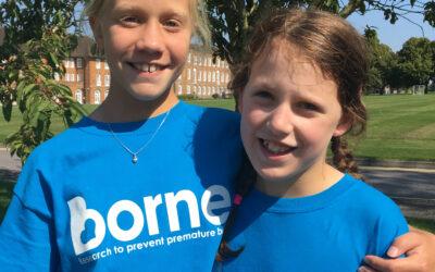 10-year-old girls raise £1,500 in a triathlon for Borne
