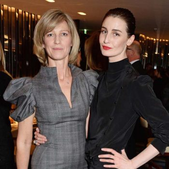 LONDON, ENGLAND - FEBRUARY 03:  Nicola Formby (L) and Erin O'Connor attend a charity dinner hosted by Nicola Formby and AA Gill in support of Borne, a charity aimed at preventing disability in childbirth, at Rivea at Bulgari Hotel & Residences on February 3, 2015 in London, England.    Pic Credit: Dave Benett