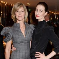 Erin O'Connor and Nicola Formby at a 2015 Bulgari Dinner held by Nicola Formby