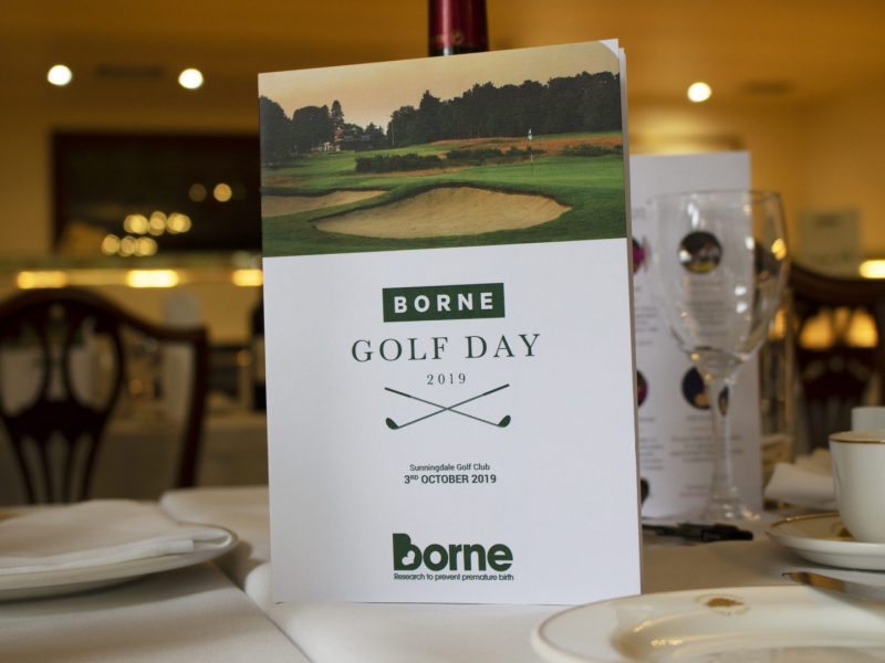 Golf day programme