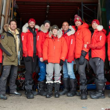 Group shot at Svalbard crop - Credit Jake Turney, Will Douglas