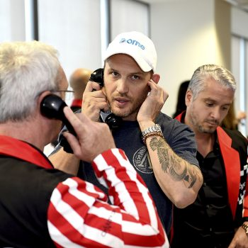 LONDON, ENGLAND - SEPTEMBER 11:  Tom Hardy representing Borne Charity trades during BGC Charity Day at One Churchill Place on September 11, 2018 in London, England.   Pic Credit: Dave Benett